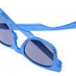 Striped Blue Sunglasses — Stock Photo