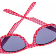 Red Plaid Sunglasses — Stock Photo