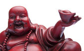 Face of Happy Buddah with Offering in Ha — Foto Stock