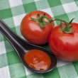 Stock Photo: Spoonful of Tomato Soup