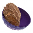 Biscotti in a Purple Bowl — Stock Photo