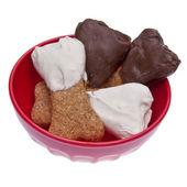Cioccolato immerso cane tratta — Foto Stock