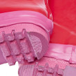 Detail of Pink Rain Boots — Stock Photo