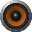 Stock Vector: Loudspeaker