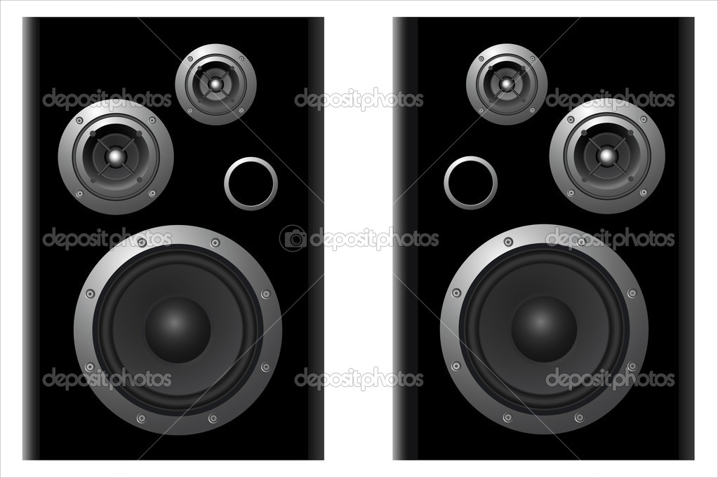 Two vektor speaker systems on white background  Stock Vector #1377636