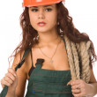 Pretty worker - Stock Photo