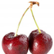 Cherry with drops — Stock Photo