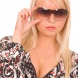 Woman with sunglasses — Stock Photo #1379902