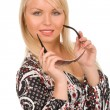 Fashionable blond woman — Stock Photo