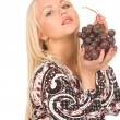 Royalty-Free Stock Photo: Woman with grapes