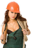 Pretty worker — Stock Photo