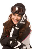 Pretty woman in ski-wear — Stock Photo