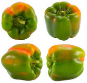 Green pepper collection — Stock Photo