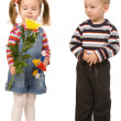 Boy and girl — Stockfoto