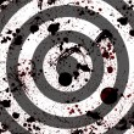 Bloody target — Stock Photo