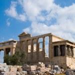 Erecthion temple on acropolis, Athens — Stock Photo #1363940