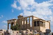 Erecthion temple on acropolis, Athens — Stock Photo