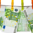 Royalty-Free Stock Photo: Euro banknotes on a rope