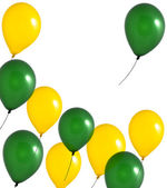 Green and yellow balloons — Stock Photo