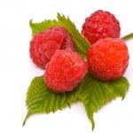 Forest raspberries. Macro shot. — Stock Photo