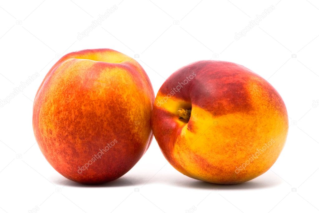 Two juicy nectarines — Stock Photo #1393518