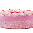 Pink cake isolated on white background — Stock Photo #1437110