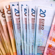 Euro banknotes background — ストック写真