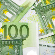 Stock Photo: Hundred Euro banknotes background