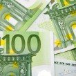 Hundred Euro banknotes background — Foto Stock #1492701