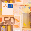 Stok fotoğraf: Fifty Euro banknotes background