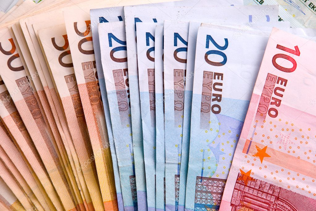 Euro banknotes background — Stock Photo #1492681