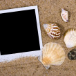 Photo frame with seshells — Stock Photo #1503673