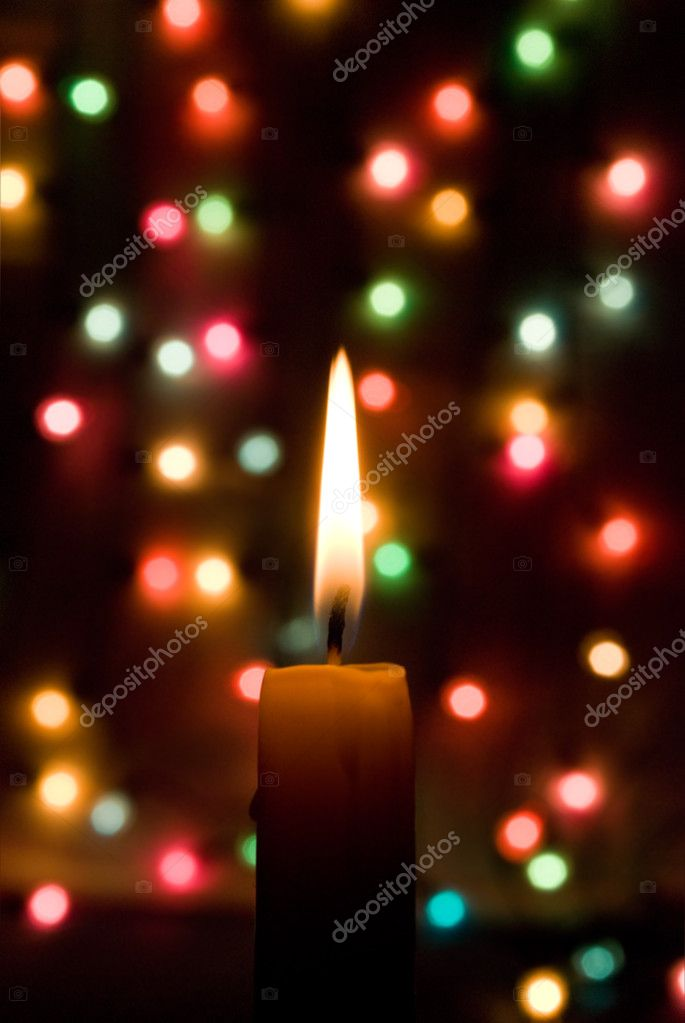 Candle lights creating a fine Christmas mood — Stock Photo #1512458