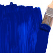 Blue paint brush - Stock Photo