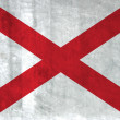 Grunge Flag of Alabama — Stock Photo