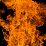 Burning fire background — Stock Photo #1541226