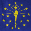 Royalty-Free Stock Photo: Grunge Flag of Indiana