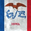 Grunge Flag of Iowa - Stock Photo