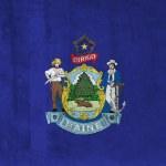 Grunge Flag of Maine — Stock Photo