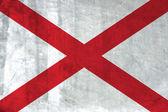 Grunge Flag of Alabama — Stock Photo