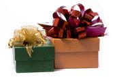Two gift box studio shot — Stock Photo