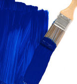 Blue paint brush — Stock Photo