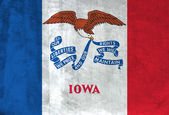 Grunge Flag of Iowa — Stock Photo