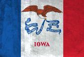 Iowa grunge bayrağı — Stok fotoğraf