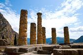 The temple of Apollo in Delphi, Greece — Stock Photo