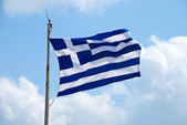 Waving flag of Greece — Stock Photo