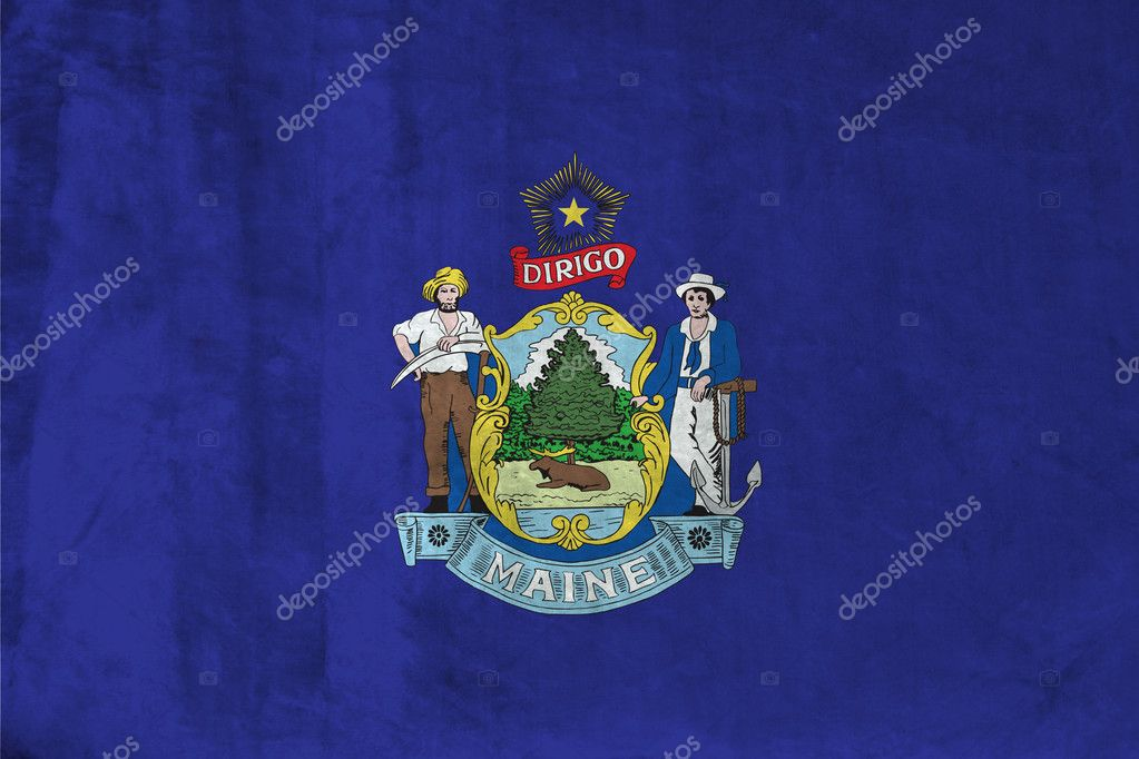 Grunge Flag of Maine — Stock Photo #1544770