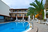Small hotel in Greece — Stock Photo