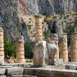 The temple of Apollo in Delphi. Greece — Stock Photo