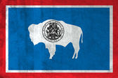 Grunge Flag of Wyoming — Stock Photo